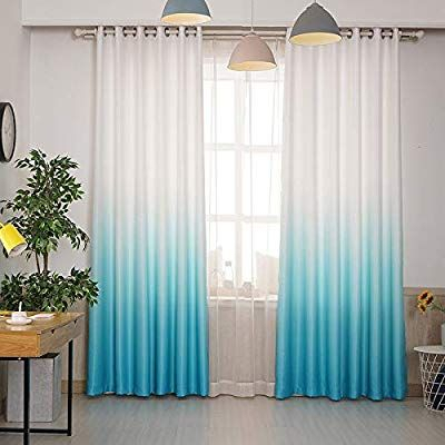 Alifish Grommet Semi Blackout Curtains Gradient Panel With Regard To Pastel Damask Printed Room Darkening Kitchen Tiers (#3 of 50)