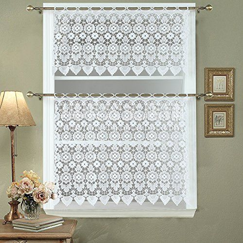 Amazon: Ds Bath Medallion Kitchen Curtain Tier,macrame Intended For Medallion Window Curtain Valances (View 9 of 48)