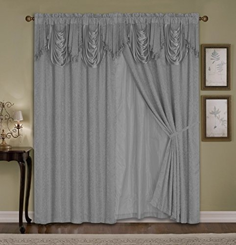 Ammybeddings 2 Panels Darkening Blackout Window Curtains For Luxury Collection Kitchen Tiers (#5 of 50)