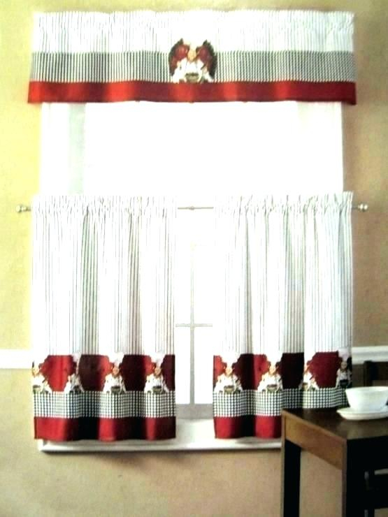 Amusing Burlap Curtains For Kitchen Pinterest Farmhouse Gray Throughout Red Primitive Kitchen Curtains (View 12 of 30)