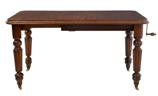 Antique Victorian Mahogany Extending Dining Table With Trendy Rustic Mahogany Extending Dining Tables (View 5 of 30)