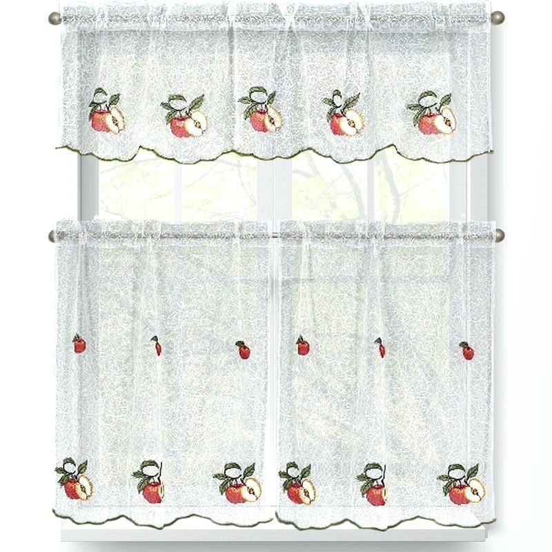 Apple Kitchen Curtains – Portme Intended For Red Delicious Apple 3 Piece Curtain Tiers (View 35 of 50)