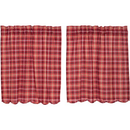 Apple Red Rustic & Lodge Kitchen Curtains Braxton Rod Pocket Regarding Red Rustic Kitchen Curtains (#2 of 30)
