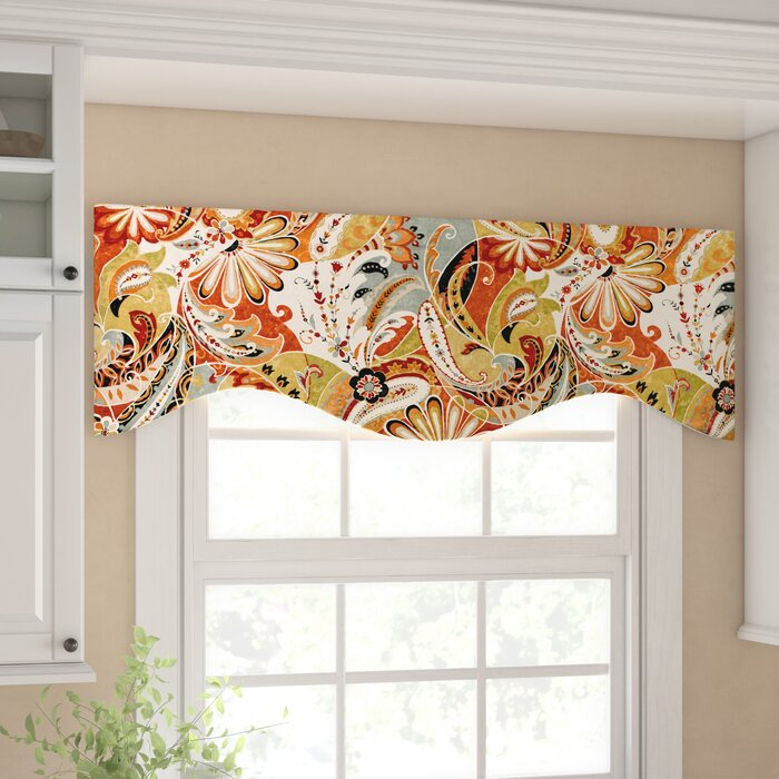 """Areli Paisley 51"""" Window Valance Pertaining To Floral Pattern Window Valances (View 3 of 50)"""