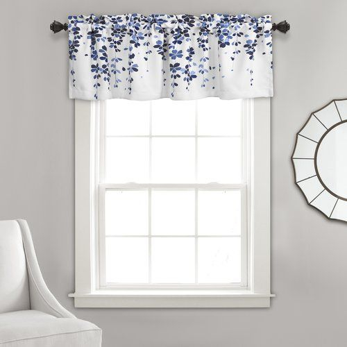 """Ariana Cotton Oversized Ruffle Valance White 50x18"""" 