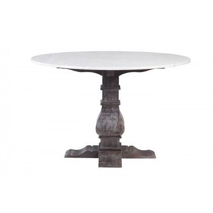 Athena Small Round Marble Dining Table  Black Finish For Current Christie Round Marble Dining Tables (#2 of 20)