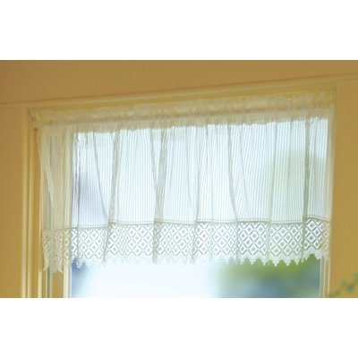 "August Grove Arles 48"" Curtain Valance Color: White For Luxury Light Filtering Straight Curtain Valances (View 21 of 47)"