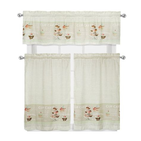"August Grove Cherry 52"" Curtain Valance 