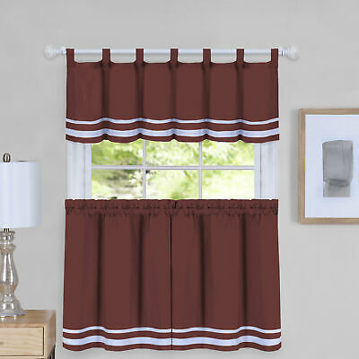August Grove Hornell Window Curtain Tier Pair And Valance Within Barnyard Window Curtain Tier Pair And Valance Sets (View 12 of 50)