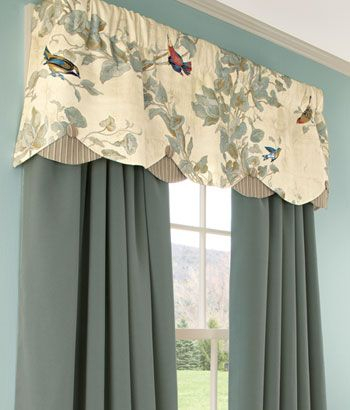 Aviary Lined Layered Scalloped Valances: I Covet This (View 6 of 30)