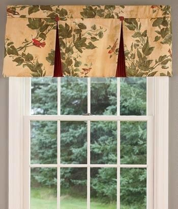 Aviary Lined Pleated Valance – Country Curtains® | For The Inside Aviary Window Curtains (View 8 of 30)