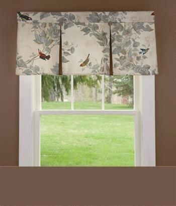 Aviary Lined Pleated Valance – Country Curtains® In 2019 Intended For Aviary Window Curtains (View 7 of 30)