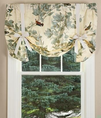 Aviary Lined Tie Up Valance – Country Curtains® In 2019 Regarding Aviary Window Curtains (View 10 of 30)