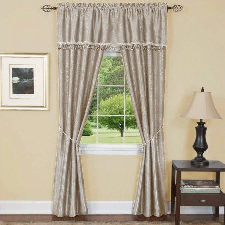 Baby Blue 1 Pair Ryb Home Semi Sheer Valances For Windows W With White Tone On Tone Raised Microcheck Semisheer Window Curtain Pieces (#14 of 46)