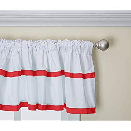 Baby Doll Medallion Window Valance, Red Regarding Medallion Window Curtain Valances (#7 of 48)