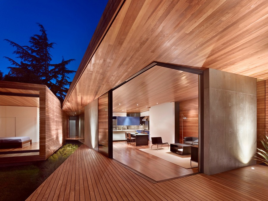 Bal House In Menlo Park – E Architect Pertaining To 2020 Menlo Reclaimed Wood Extending Dining Tables (#3 of 30)