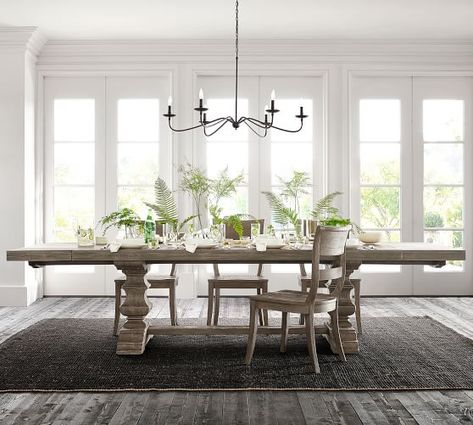 Banks Extending Rectangular Dining Table, Large, Alfresco Inside Fashionable Gray Wash Toscana Extending Dining Tables (#2 of 20)