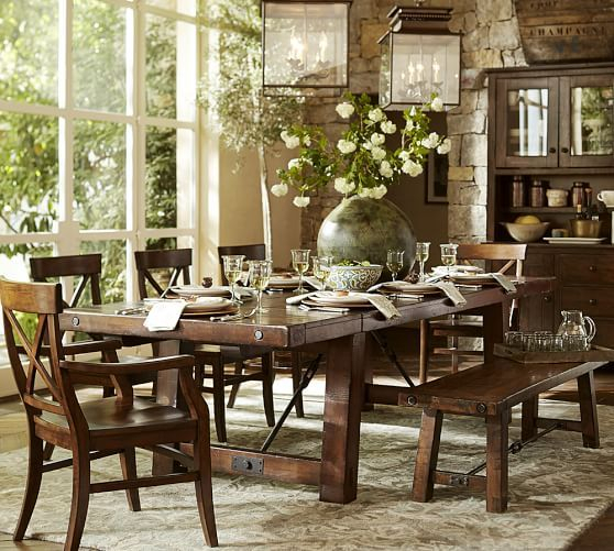 Banks Reclaimed Wood Extending Dining Table Pottery Barn Pertaining To Recent Alfresco Brown Banks Pedestal Extending Dining Tables (View 21 of 30)