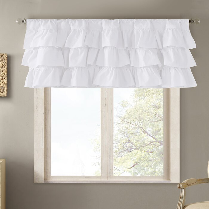 "Barbery 50"" Window Valance With Elegant Crushed Voile Ruffle Window Curtain Pieces (View 8 of 45)"