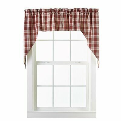 Barnyard Swag Set Window Curtains Pair – 72X36 Total – 2 Inch Rod Pocket |  Ebay Pertaining To Barnyard Window Curtain Tier Pair And Valance Sets (View 13 of 50)