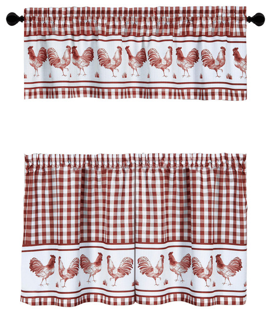 Popular Photo of Barnyard Window Curtain Tier Pair And Valance Sets