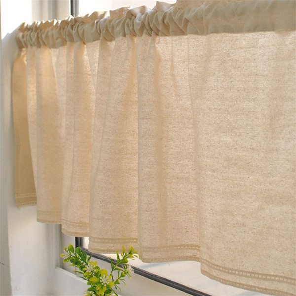 Bay Window Kitchen Tier Curtain Toilet Cotton Linen Valance Restroom Multi  Styles Lace Sheer Curtains New Arrival 12 8Mz L1 Curtains And Blinds Sheers Regarding Linen Stripe Rod Pocket Sheer Kitchen Tier Sets (#3 of 46)