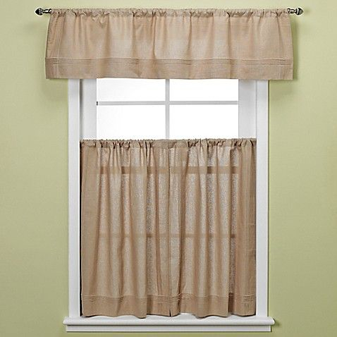 Bbb Maison Kitchen Window Curtain Tiers In Linen | Window Within Pintuck Kitchen Window Tiers (#5 of 43)