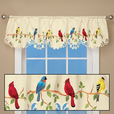 Beautiful Birds Spring Valance Curtain | Window Into My Soul Throughout Rowley Birds Valances (#2 of 50)
