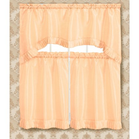 Bermuda Ruffle Kitchen Curtain Tier Set | Products | Kitchen In Bermuda Ruffle Kitchen Curtain Tier Sets (View 8 of 50)