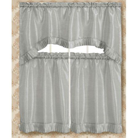 Bermuda Ruffle Kitchen Curtain Tier Set | Products | Kitchen In Bermuda Ruffle Kitchen Curtain Tier Sets (View 7 of 50)