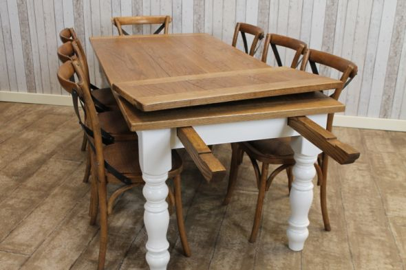 Bespoke Oak Top Extending Farmhouse Table In 2019 Intended For Current Modern Farmhouse Extending Dining Tables (#5 of 30)
