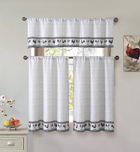 Best And Coolest 16 Tier Window Curtains – Top Decor Tips Within Cotton Blend Grey Kitchen Curtain Tiers (View 2 of 47)