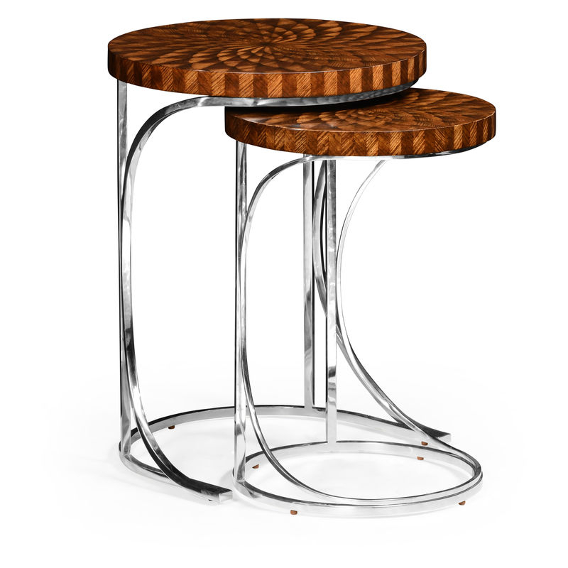 Best And Newest 494959 Zeb Jc Modern Icarus Scale Inlay Nest Of Tables Pertaining To Icarus Round Bar Tables (#2 of 20)
