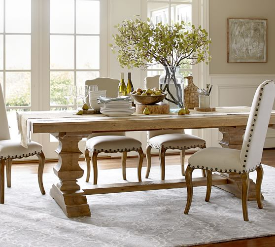 Best And Newest Banks Reclaimed Wood Extending Dining Table Pottery Barn Intended For Parkmore Reclaimed Wood Extending Dining Tables (#3 of 30)