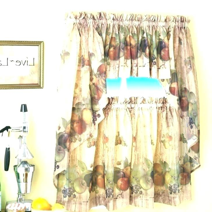 Better Homes And Gardens Valances – Ironhorseinn Inside Embroidered 'Coffee Cup' 5 Piece Kitchen Curtain Sets (View 7 of 30)