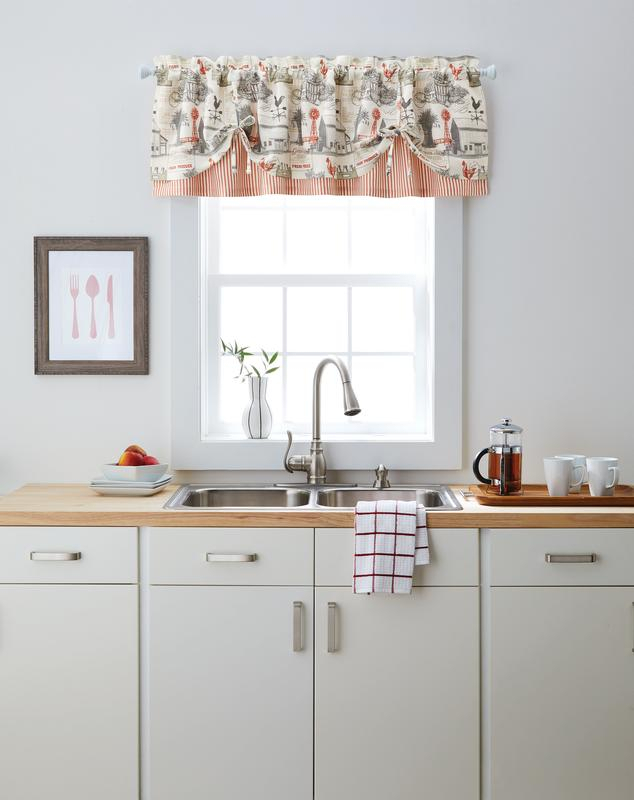Better Homes & Gardens Farmhouse Window Curtain Valance – Walmart Intended For Farmhouse Stripe Kitchen Tier Pairs (View 1 of 30)