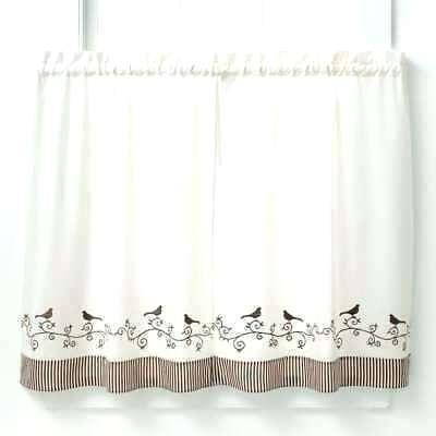 Bird Kitchen Curtains – Hokkori Inside White Knit Lace Bird Motif Window Curtain Tiers (View 3 of 50)
