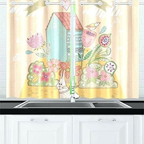 Bird Kitchen Curtains – Hokkori Intended For White Knit Lace Bird Motif Window Curtain Tiers (View 4 of 50)
