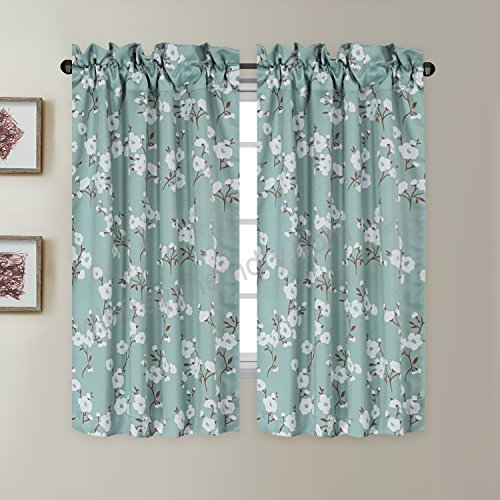 Blackout Energy Saving Ultra Soft Casual Kitchen Curtains Throughout Embroidered Rod Pocket Kitchen Tiers (View 6 of 49)