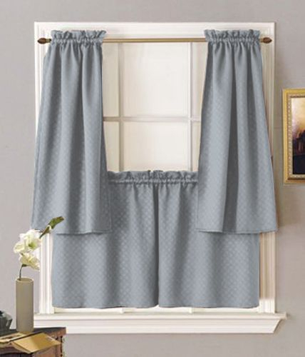 Block Out Unwanted Light Or Sounds With Facets Rod Pocket Throughout Dove Gray Curtain Tier Pairs (View 5 of 30)