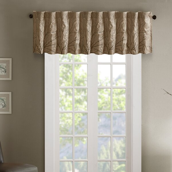 Blue And Tan Valance | Wayfair Regarding Luxury Light Filtering Straight Curtain Valances (View 26 of 47)
