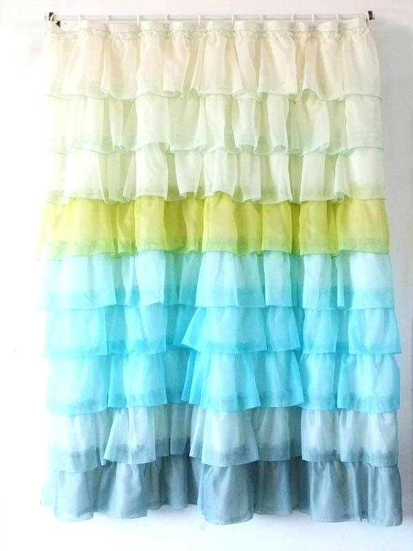 Blue Ruffle Shower Curtain – Zanmedia (View 20 of 30)