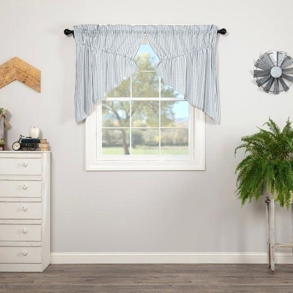 Blue Swag Curtains – Home Ideas Regarding Barnyard Window Curtain Tier Pair And Valance Sets (View 17 of 50)