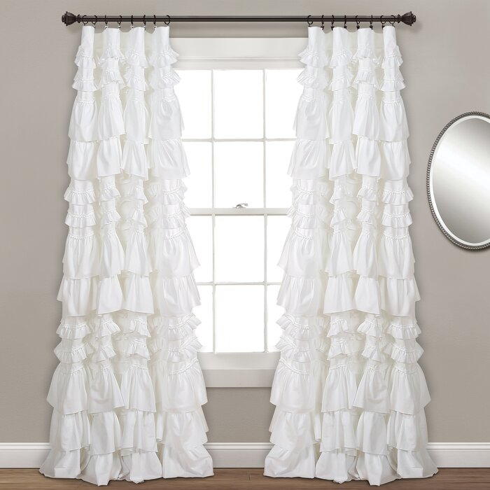 Bridlington Solid Semi Sheer Rod Pocket Single Curtain Panel Within Elegant Crushed Voile Ruffle Window Curtain Pieces (View 11 of 45)