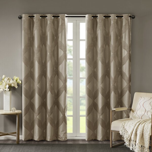 Brocade Curtains | Wayfair With Regard To Marine Life Motif Knitted Lace Window Curtain Pieces (#11 of 48)