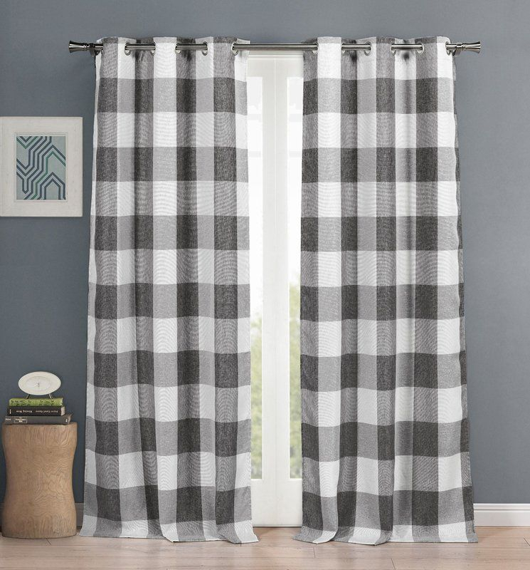 Brockham Room Darkening Thermal Grommet Curtain Panels (Set Pertaining To Grandin Curtain Valances In Black (View 5 of 30)
