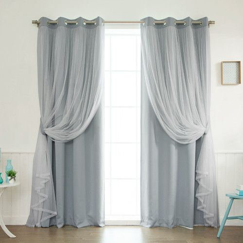 Brockham Solid Blackout Thermal Grommet Curtain Panels (Set For Luxury Light Filtering Straight Curtain Valances (View 19 of 47)