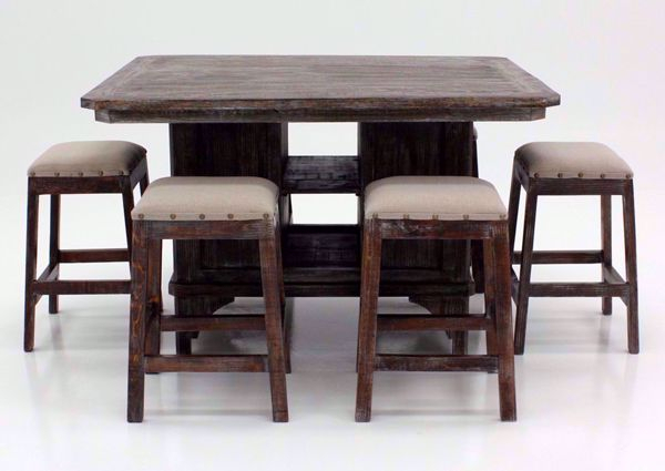 Brooks Dining Tables With Best And Newest Brooks 7 Piece Bar Height Table Set – Brown (View 5 of 20)
