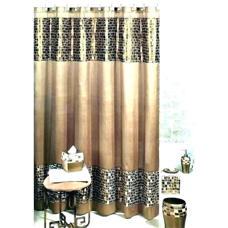 Brown And Tan Curtains – Garsoz With Kitchen Burgundy/white Curtain Sets (#7 of 50)