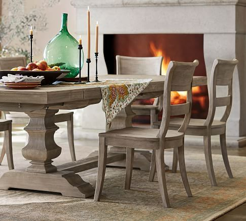 Popular Photo of Brown Wash Livingston Extending Dining Tables